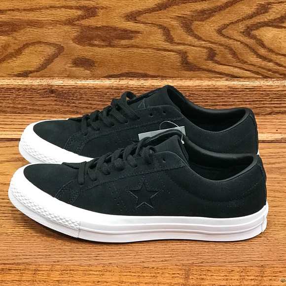 4dc1a510179419 Converse One Star Ox Black White Shoes